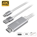 4smarts Lightning / HDMI 4K UHD Adapter - iPhone, iPad, iPod - 1.8m