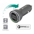 4smarts VoltRoad Supersnabb Billaddare - USB PD & QC3.0 - 48W