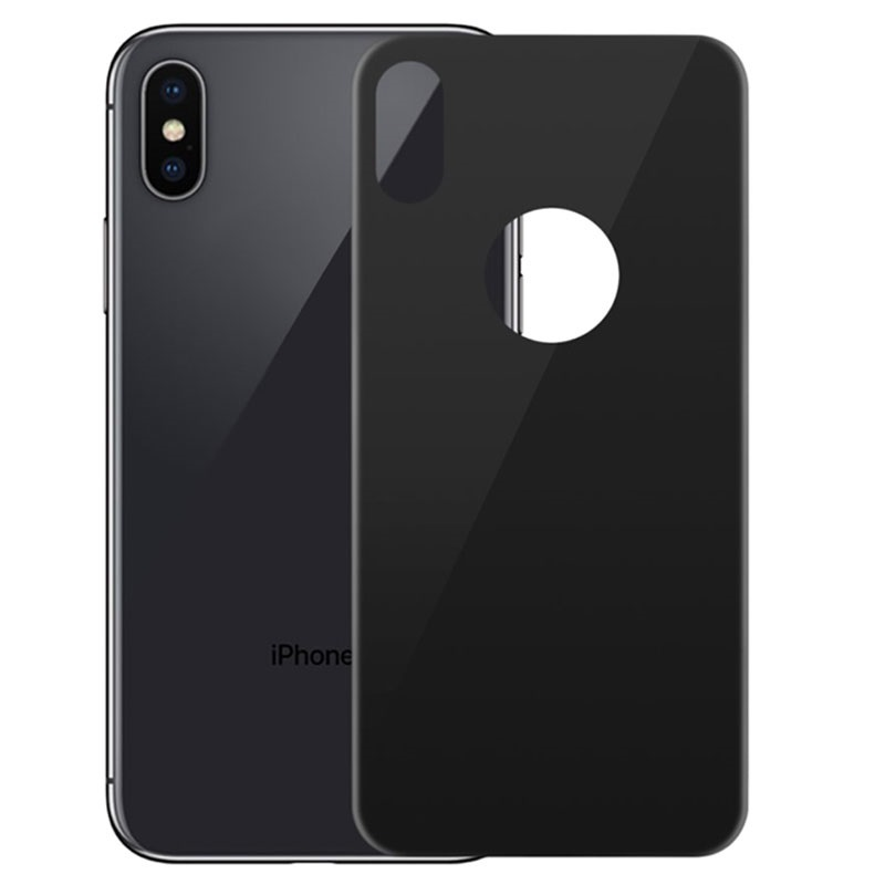 iPhone X / iPhone XS 5D Härdat Glass Baksideskydd - 9H, 0.3mm