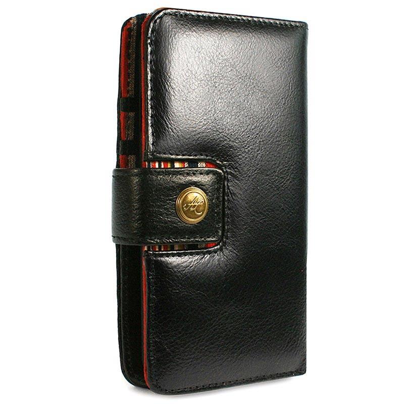 iPhone X   iPhone XS Alston Craig RFID Fullstort Läder Plånboksfodral d60c527833311