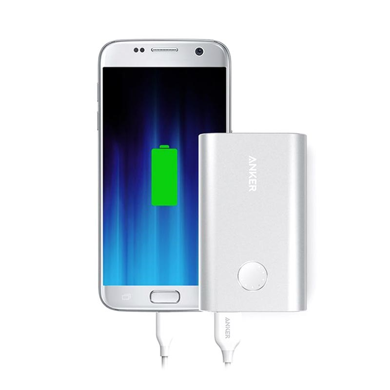 Anker PowerCore+ 10050mAh Powerbank med Quick Charge 3.0 - Silver