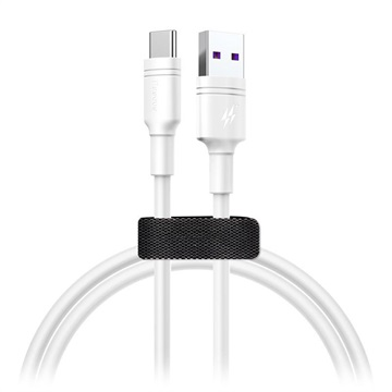 Baseus DZ-SMT Double-ring SuperCharge USB-C Kabel - 5A, 1m - Vit