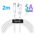 Baseus DZ-SMT Double-ring SuperCharge USB-C Kabel - 5A, 2m - Vit