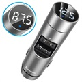 Baseus Energy Column QC3.0 Billaddare / Bluetooth FM-sändare - Silver