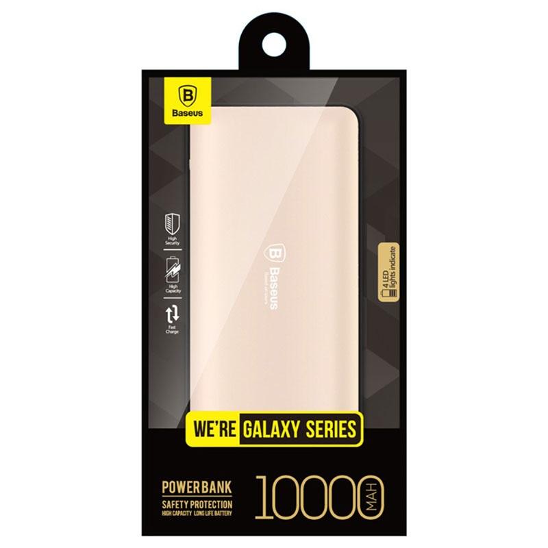 Ett guldigt 10000mAh Baseus Galaxy Series dubbel USB powerbank 0cb6b4a595e9a
