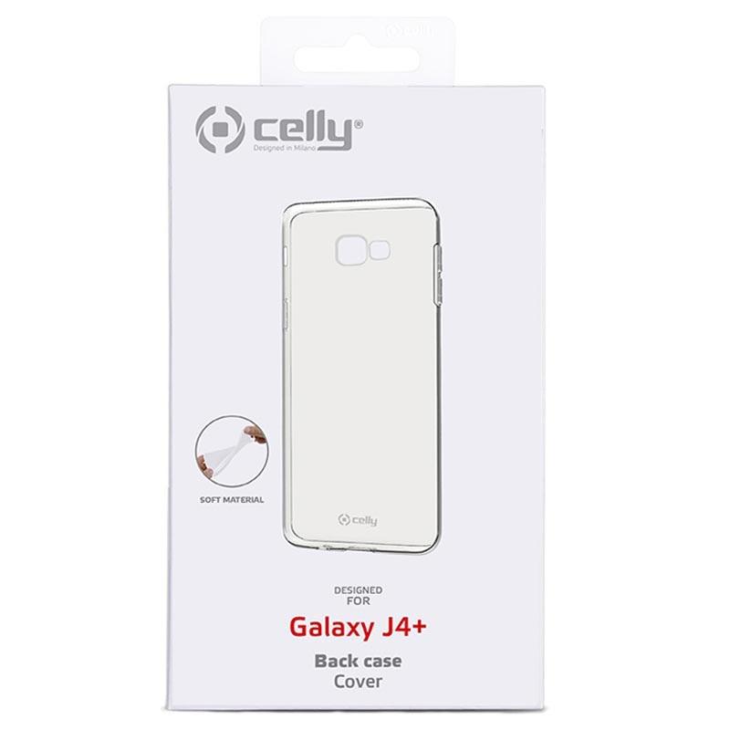 Celly Gelskin Samsung Galaxy J4+ TPU-skal - Genomskinlig 54e1f6dd58a2b