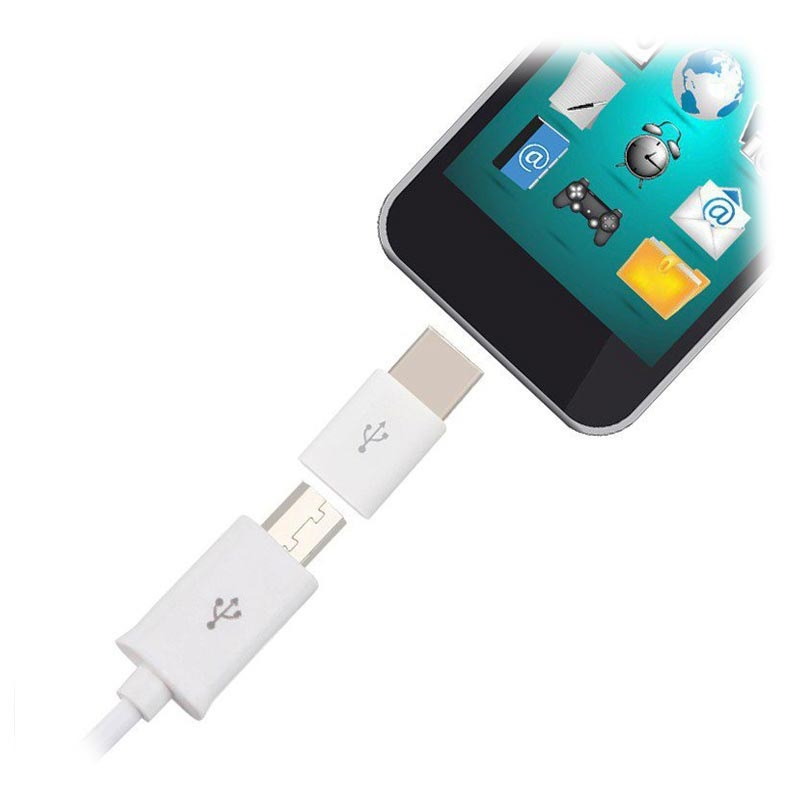 Laddning & Synkning MicroUSB / USB-C Adapter