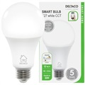 Deltaco SH-LE27W WiFi Smart LED Lampa - 9W - Vit