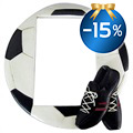 Effect Fun Football 8.5x13 Fotoram - Svart / Vit