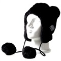 Fluffy Beanie Mössa Bluetooth Headset - Svart