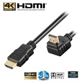Goobay High Speed HDMI-Kabel med Ethernet - Vinklad 90°