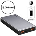 Goobay Quick Charge Powerbank - Dual USB, Typ-C