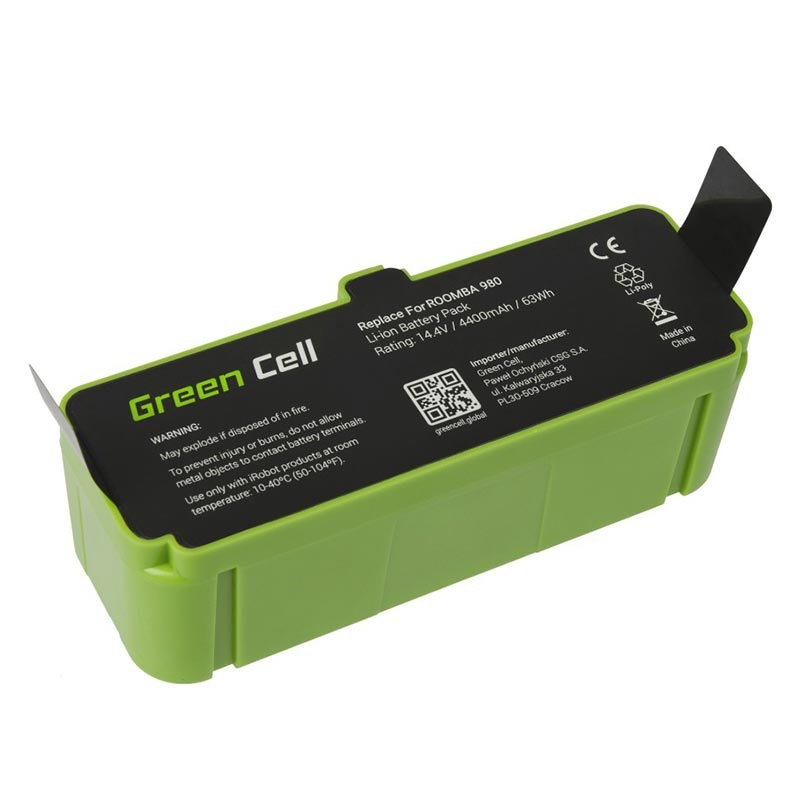 Green Cell Batteri - iRobot Roomba 690, 960, 980, 985 - 4.4Ah