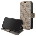 Guess Charms Collection 4G iPhone 11 Bok Fodral - Brun