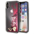 Guess Glitter Collection iPhone X / iPhone XS Skal - Hallon
