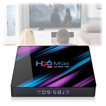 H96 Max RK3318 Smart TV Box med Android 9.0 - 4GB RAM, 64GB ROM