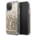 Karl Lagerfeld Signature Liquid Glitter iPhone 11 Pro Max Skal