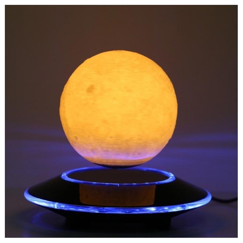 Magnetisk Svävande 3D Månen LED Lampa Nattlampa