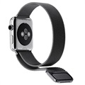 Apple Watch Series 4/3/2/1 Magnetisk Milanesisk Loop - 44mm, 42mm - Svart