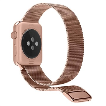 Apple Watch Series 4/3/2/1 Magnetisk Milanesisk Loop - 44mm, 42mm - Roséguld