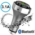 Multifunktionell Billaddare & Bluetooth FM-sändare AP06 - Silver