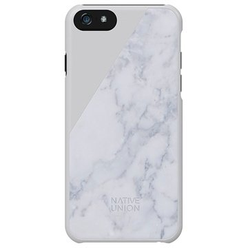 iPhone 6 / 6S Native Union Clic Marble Skal - Vit