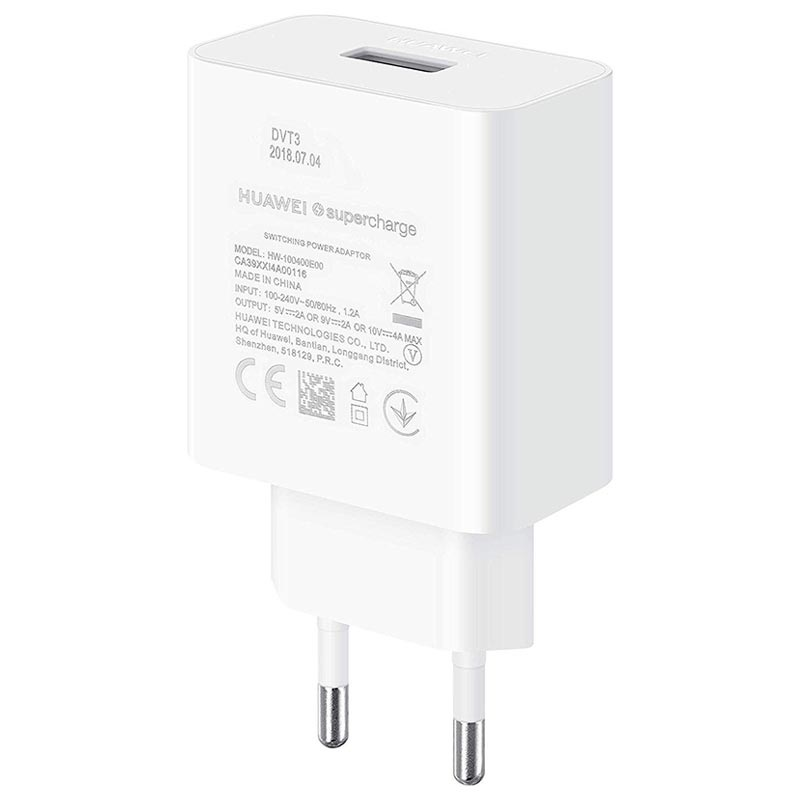 Huawei SuperCharge USB-C Väggladdare CP84 - 40W - Vit