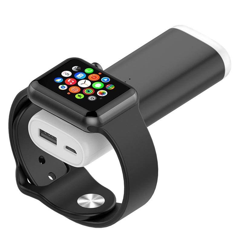 Bärbar Apple Watch Trådlös Laddare Powerbank