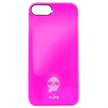 iPhone 5 / 5S / SE Puro Skull Click-On Skal - Rosa