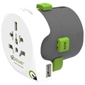 Q2Power QDAPTER Universell USB World Reseadapter - 10A