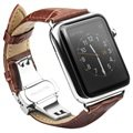 Apple Watch Qialino Läderarmband - 42mm - Brun