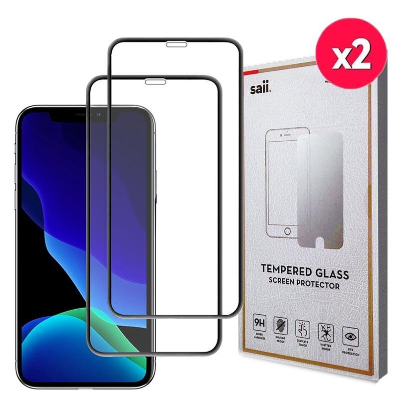 Berömda Saii 3D Premium iPhone 11 Härdat Glas Skärmskydd - 9H - 2Pcs. QC-85