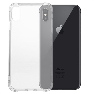 Stöttåligt iPhone XS Max TPU-skal - Genomskinlig beb4cba0fb917