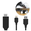 SiGN HDMI / Lightning Kabel till iPhone/iPad - 2m - Svart