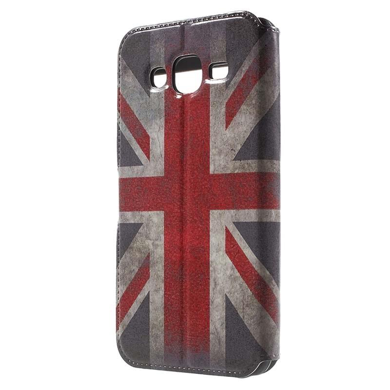 Samsung Galaxy J5 2015 Slim View Folio Fodral Union Jack