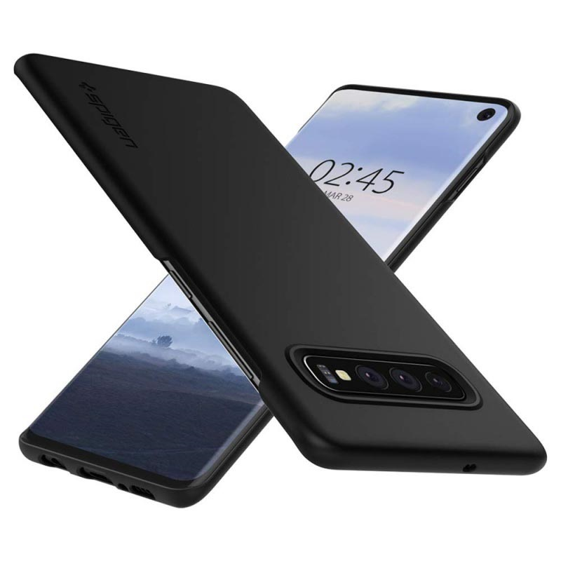 Spigen Thin Fit Samsung Galaxy S10 Skal - Svart