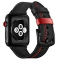 Apple Watch Series 5/4/3/2/1 Stitched Läderrem - 42mm, 44mm