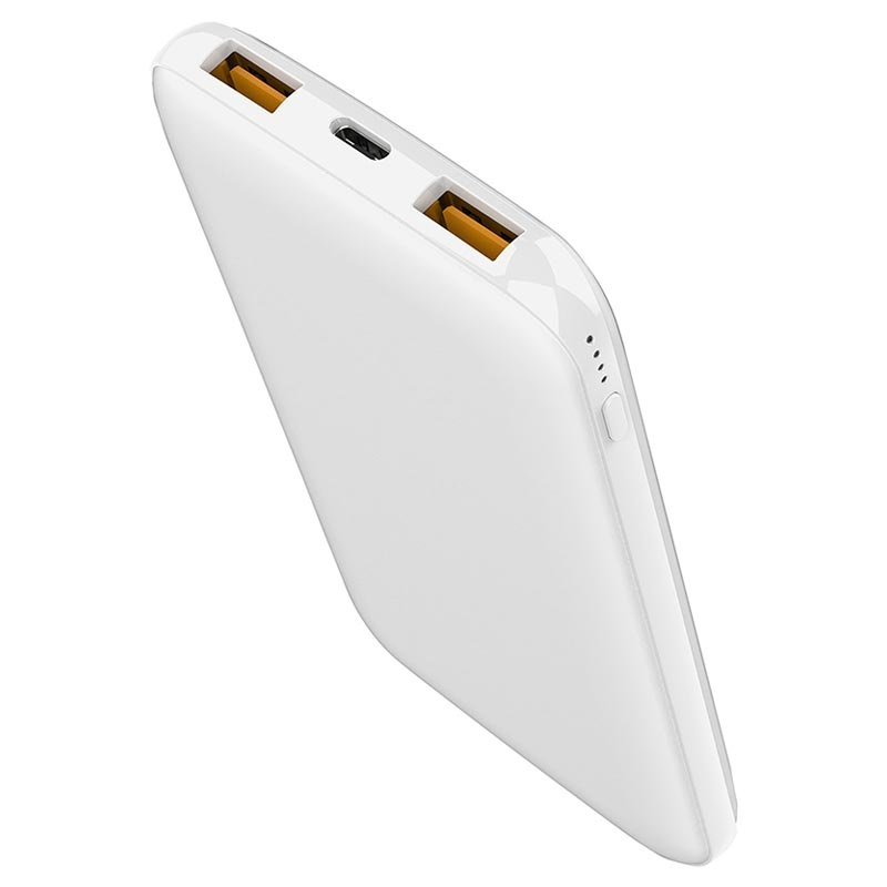 Supertunn QC3.0&PD USB-C Snabb Powerbank - 10000mAh - Vit