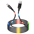 Usams US-SJ288 Dancing LED USB 2.0 / MicroUSB Kabel - 1m - Svart