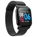 Vattentätt Bluetooth Sports Smartwatch CV06 - Milanese - Sort