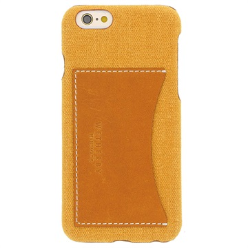 iPhone 6/6S Wetherby Canvas Bar Pocket Skal - Gul