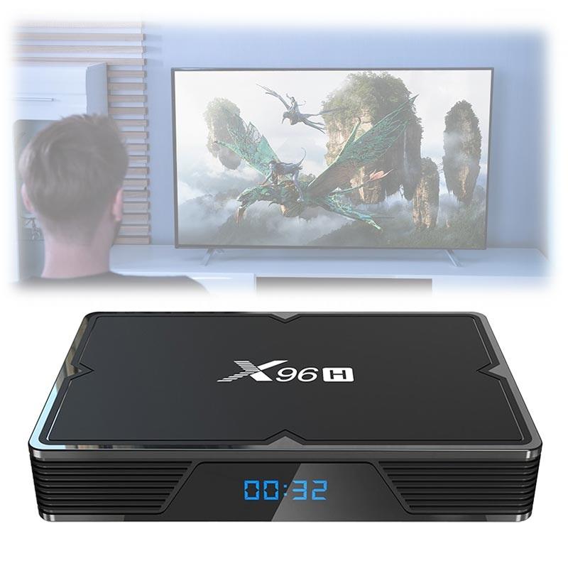 X96H Kraftfull 6K TV Box med Android 9 0 - 4GB RAM, 64GB ROM
