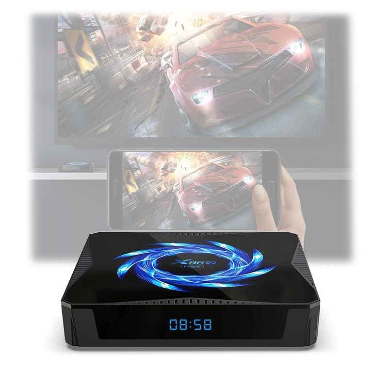 X96Q Max Smart Android 10 TV Box med Klocka - 4GB RAM, 64GB ROM