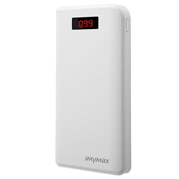 iMyMax Carbon MM-PB/006 Dubbel USB Powerbank - 30000mAh - Vit