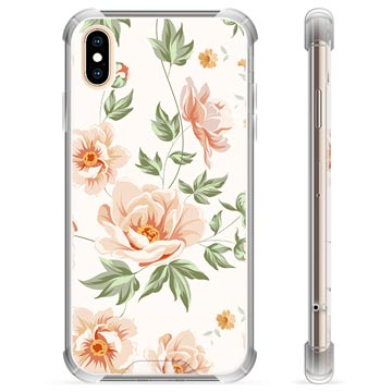 iPhone X / iPhone XS Hybridskal - Blommig