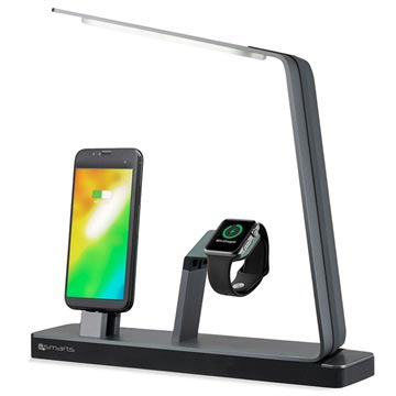 4smarts LoomiDock Laddstation & LED-lampa - Apple Watch, iPhone