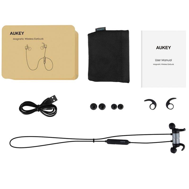 Aukey EP-B44 Magnetisk Trådlösa hörlurar - Svart 63a0d757c72b5