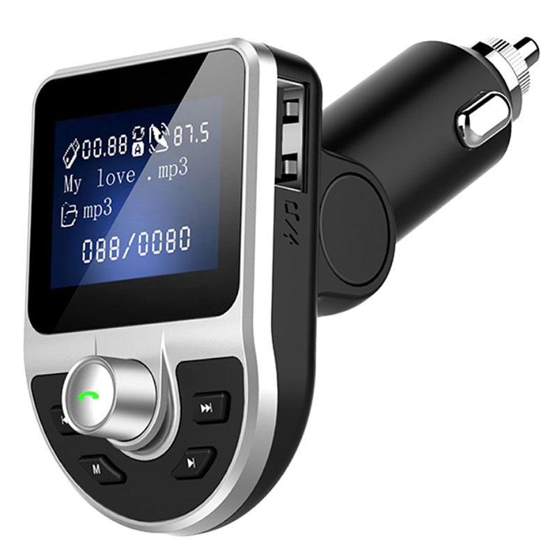 Strålande Dubbel USB-billaddare & Bluetooth FM-sändare BT39 - Svart KE-47