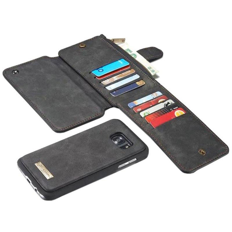 Samsung Galaxy S6 Caseme Multifunktionell Plånbok Läderfodral 343c61b81c032