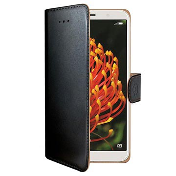 Celly Wally Huawei Y6 (2018) Plånboksfodral - Svart